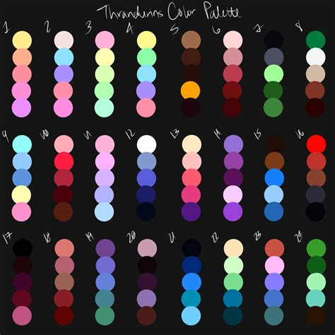 color pallete color palette challenge by thrandurins on deviantart