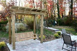Outdoor Patio Pergola Swing by A Custom Patio A Swing Pergola A Flower Planter Work