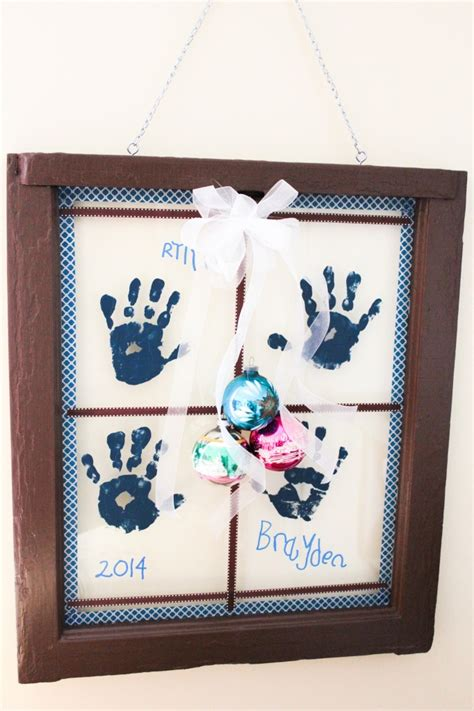handprint windowpane the perfect christmas gift for