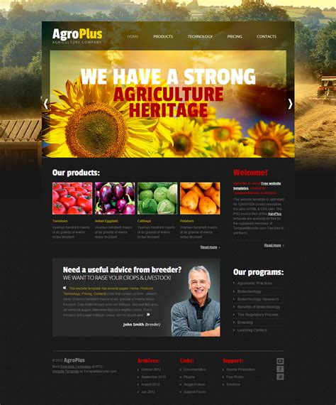 layout for website free download agro plus free psd template download download psd