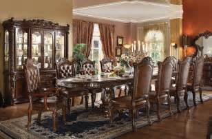 Dining Room With Bench Vendome Formal Dining Room Table Set