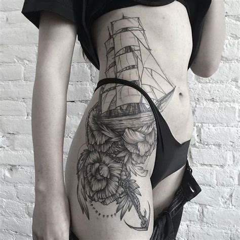 pinterest tattoo on hip pretty nautical hip tattoo tattoo pinterest awesome