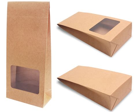 Paper Look With Tea Bags - paper bag with window brown paper bag tea bag paper