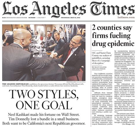los angeles times saturday section los angeles times presents republican gubernatorial