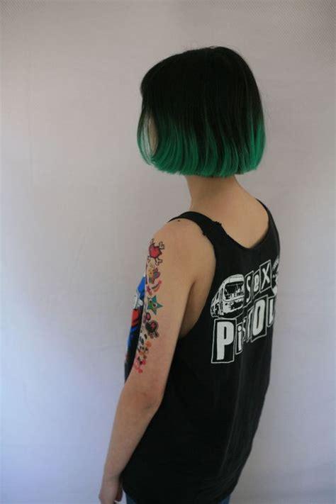 Hair Dryer Tidak Panas best 20 black and green hair ideas on emerald green hair green hair and green hair