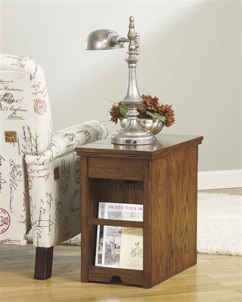chair side table with power outlet chairside end table with power outlets pull out shelf by