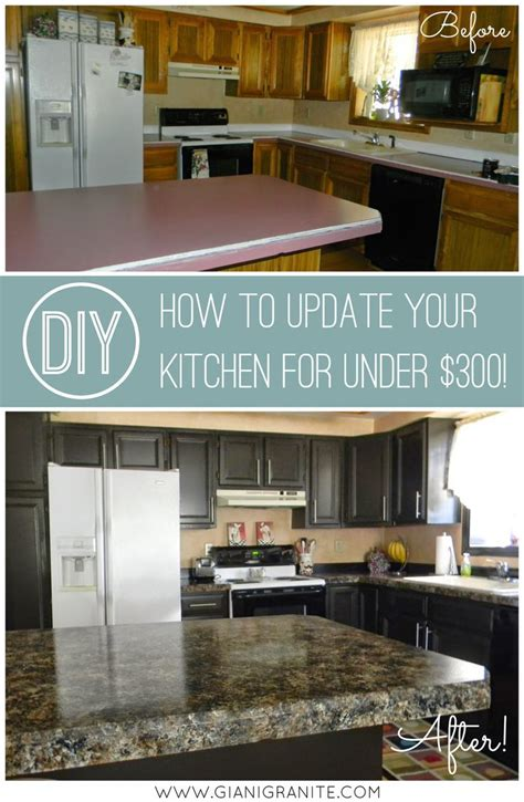 kitchen updates on a budget 1000 ideas about countertop makeover on