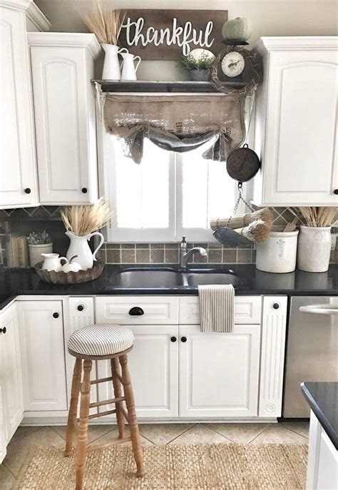 how to decorate top of kitchen cabinets pinterest 38 best farmhouse kitchen decor and design ideas for 2018