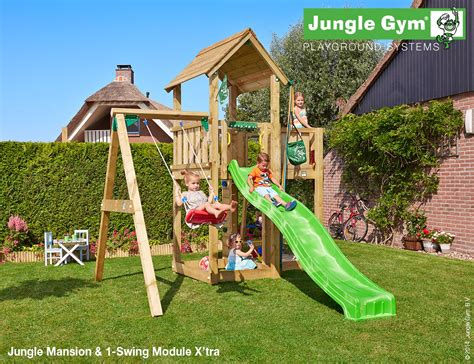 Mansion 1 Swing Bizziebodies Kids Climbing Frames