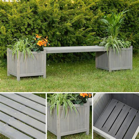 Gartenbank Holz Grau