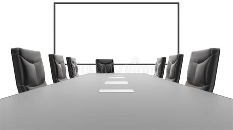 Whiteboard Conference Table Office Conference Table And White Board Stock Illustration Image 54413793