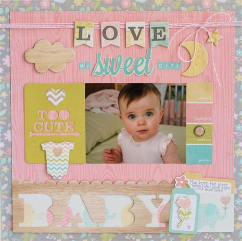 baby photo album layout 572 best baby scrapbooking layouts images on pinterest