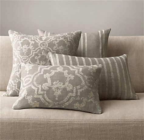 Restoration Hardware Throw Pillows pillows throws restoration hardware livingroom