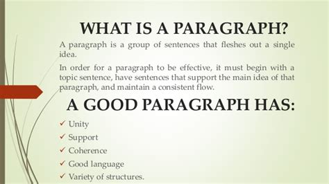paragraph types t c types of paragraphs
