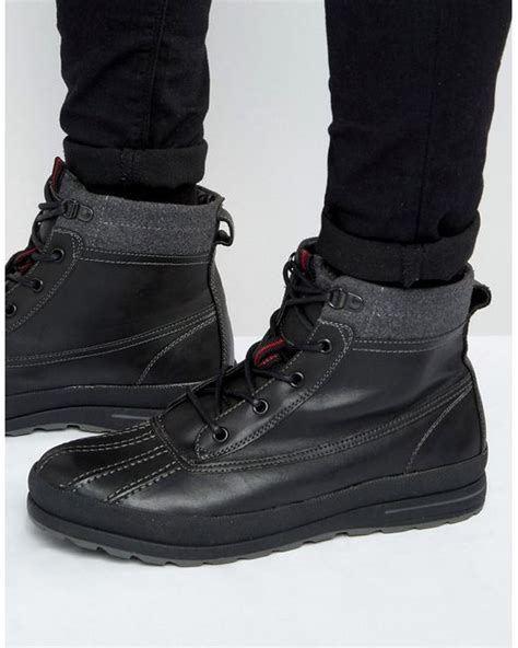 call it boots mens call it gerdon duck boots black in black for