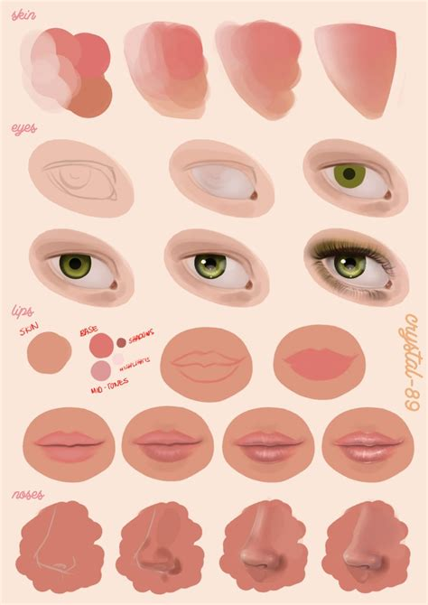 watercolor mouth tutorial digital painting tutorial facial features by nataliebeth
