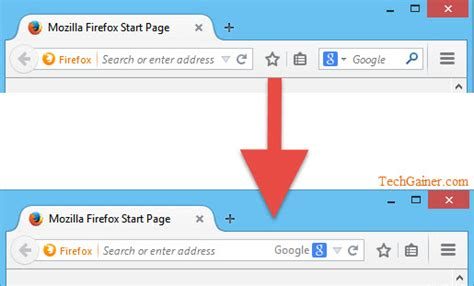 Search And Address Combine Firefox Address Bar And Search Bar Into One Like Chrome Techgainer
