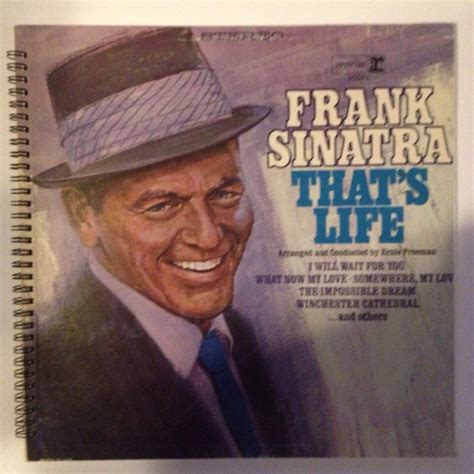 Latifah Dies Like Frank Sinatra On New Album by Frank Sinatra Recycled Record Album Cover Book