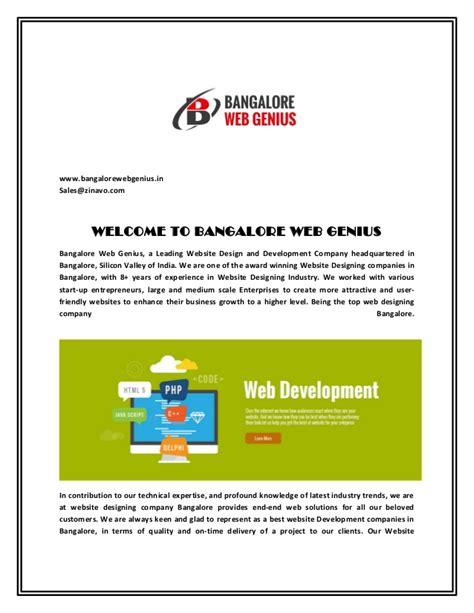 company profile design bangalore bangalore web genius web design company in bangalore