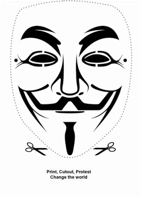 printable anonymous mask anonymous million mask march