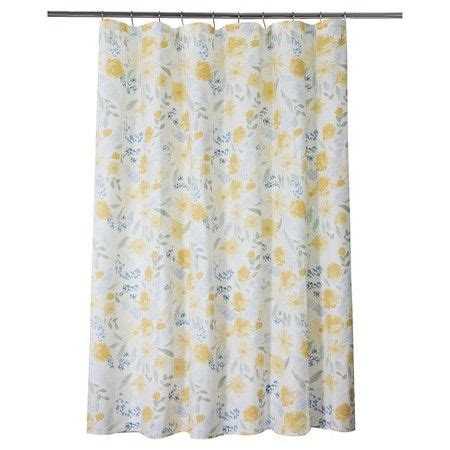 yellow floral curtains 17 best ideas about floral shower curtains on pinterest