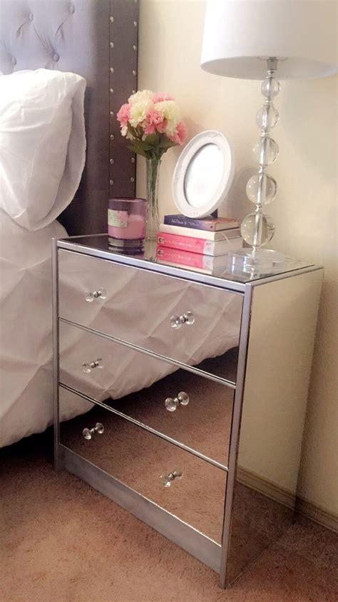 Diy Mirrored Dresser by Diy Mirror Nightstand I Made Mirrored Nightstand Diy