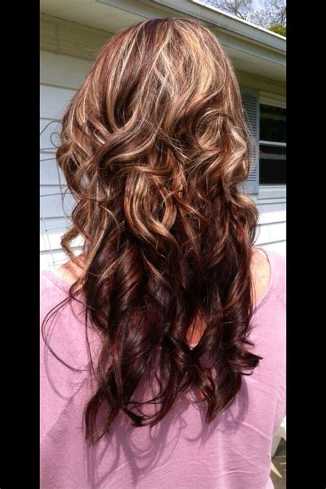 blonde and burgundy hairstyles pretty burgundy and blonde highlights hairstyles and