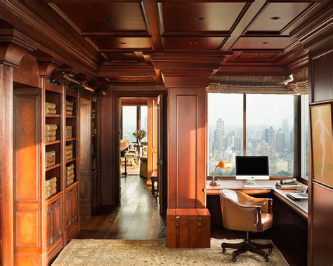 Home Office Design Nyc Manhattan Central Park Penthouse Traditional Home