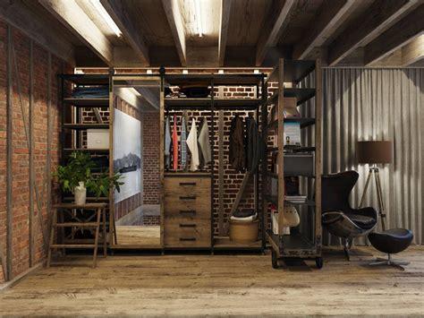 vestidor industrial todo el estilo industrial para tu armario o tu vestidor