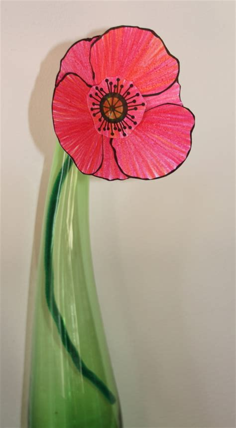 colour in poppies craft n home