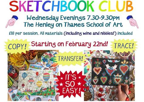 New Sketchbook Club Starting In Henley Henley Herald