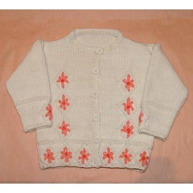 Embroidery Flower Cardigan embroidered flower cardigan knitting pattern by