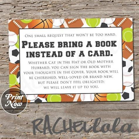 Bring A Book Instead Of A Card Template Free by 141 Best Baby Shower Downloads Images On