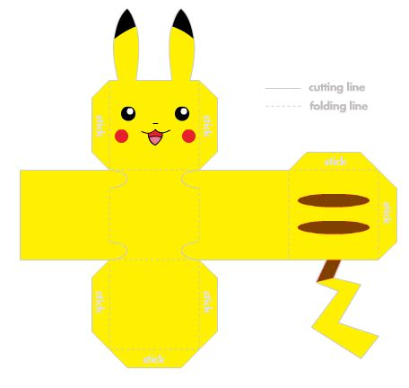 Pikachu Papercraft Template - for fans pikachu origami and more paperise 2012