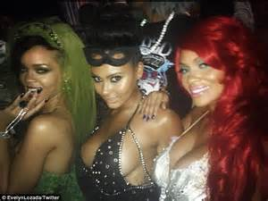 chris brown stops by as rihanna goes green for