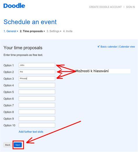 doodle schedule an event n 225 vody na radlici doodle vytvořithlasov 225 n 237