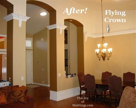 Living Room Crown Molding Before And After Before After The Secret To Installing Crown Molding On