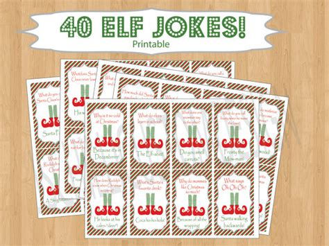 elf on the shelf printable joke cards printable shelf elf inspired jokes by jschillicustomdesign