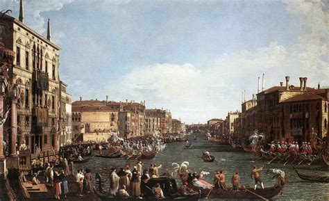 libro canaletto and the art a regatta on the grand canal by canaletto