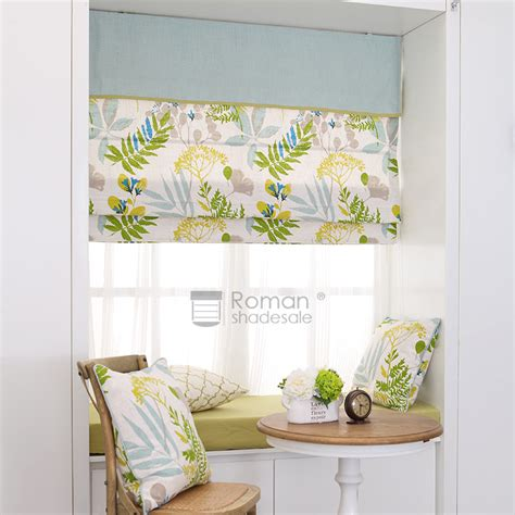 yellow pattern roman shade modern botanical pattern green yellow affordable roman shades