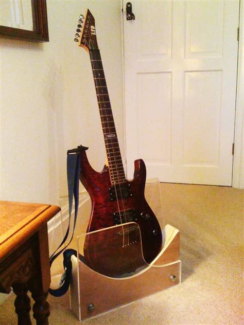 wood wooden guitar stand plans blueprints  diy