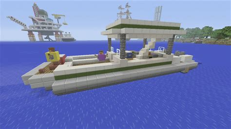 minecraft dog on boat spanklechank s minecraft tutorials how to make a pontoon