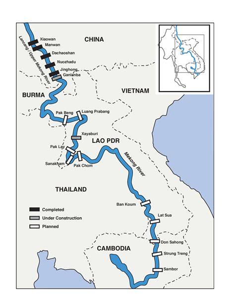 mekong river map the lower mekong dams factsheet text international rivers