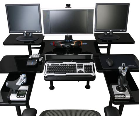 Large Gaming Desk Luxurious Brown Storage Wall Glass Gaming Computer Desk Along With Wall Glass Gaming Computer