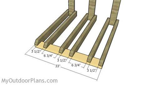 wall mounted bike rack plans myoutdoorplans