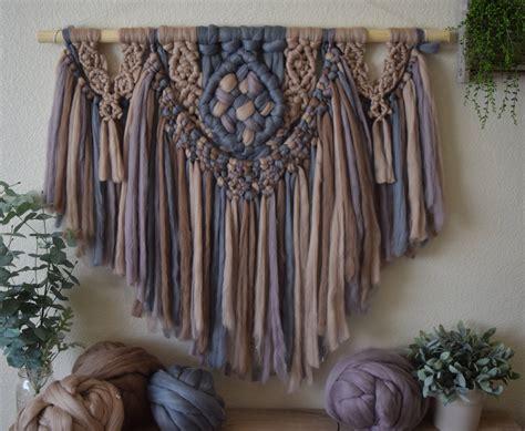 Macrame Tapestry - macrame pattern yarn wall hanging boho tapestry