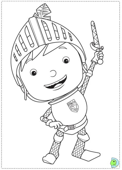 mike the knight colouring pages