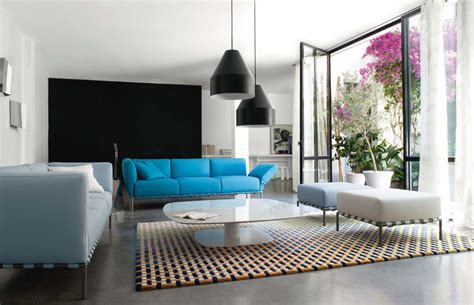 Blue Sofa Living Room Design Pop Out Color Sofa In Modern Living Room Ideas Team Ellenbogen