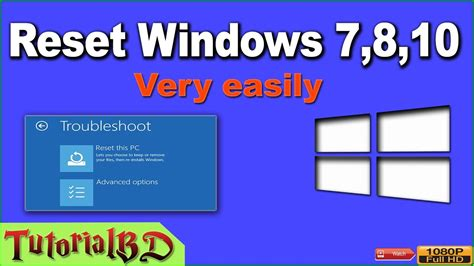 Reseter Mg2570 Win7 | how to reset windows to factory settings very easily in