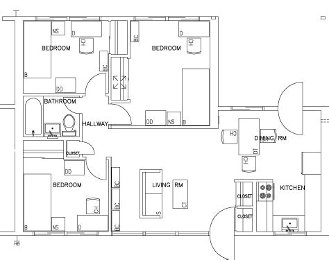 Simple Three Bedroom House Plan escondido village lowrise apartments stanford r amp de